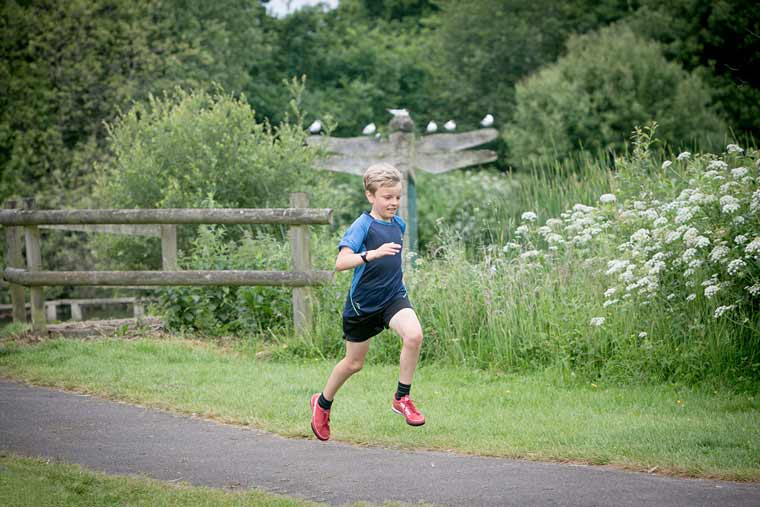Under 14s can put on their running shoes for the Moors Valley junior parkrun near Ringwood