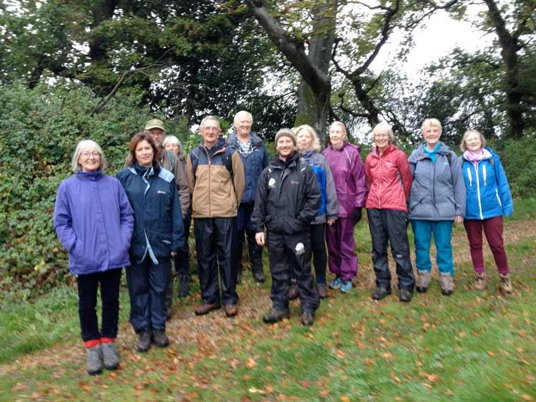 Volunteer Walk Leaders enjoying a walk together