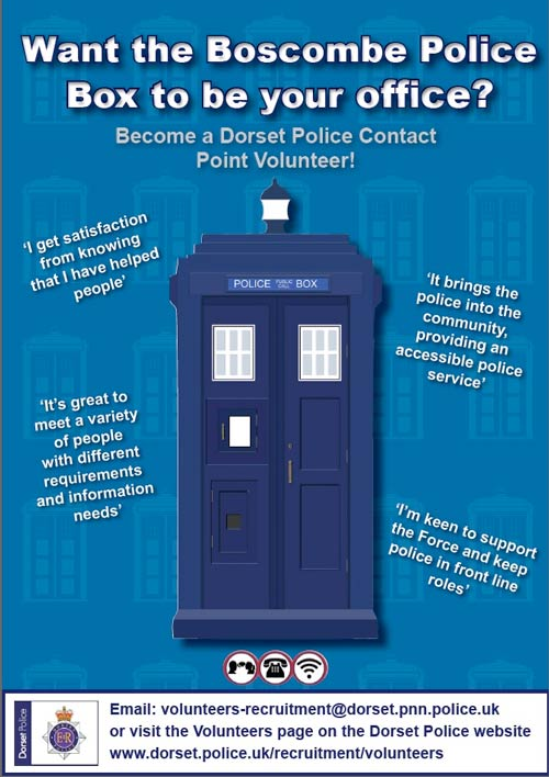Police advert for Boscombe police box