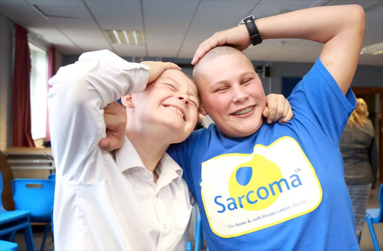 Where's our hair? Luke and Sonny staged a sponsored head shave to raise funds for Sarcoma UK