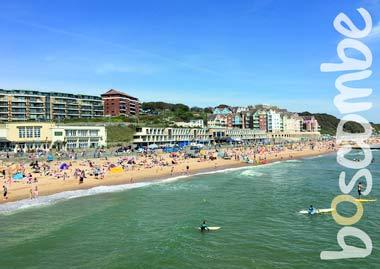 """Boscombe Beach & Paddle Boards"" by Kate Watson"