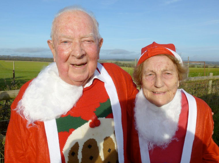 The two oldest participants John and Molly Slow from Wimborne