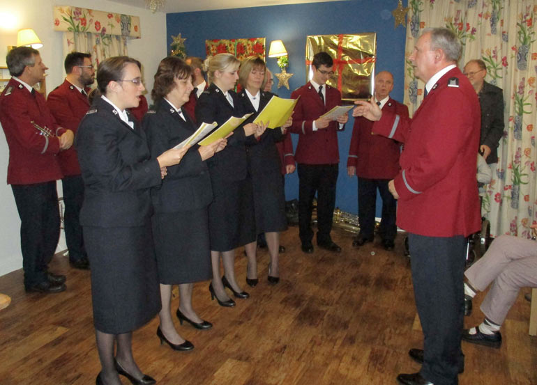 Festive treat, members of St Clement's Church in Poole sang carols and hymns to residents at Colten Care's The Aldbury