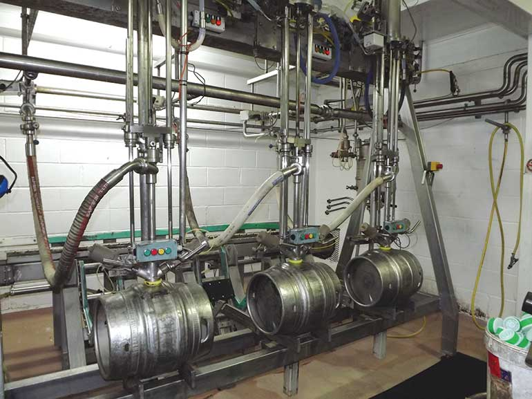 Ringwood Brewery barrelling area