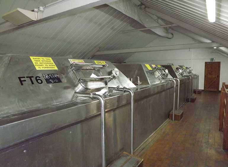 Ringwood Brewery fermentation tanks