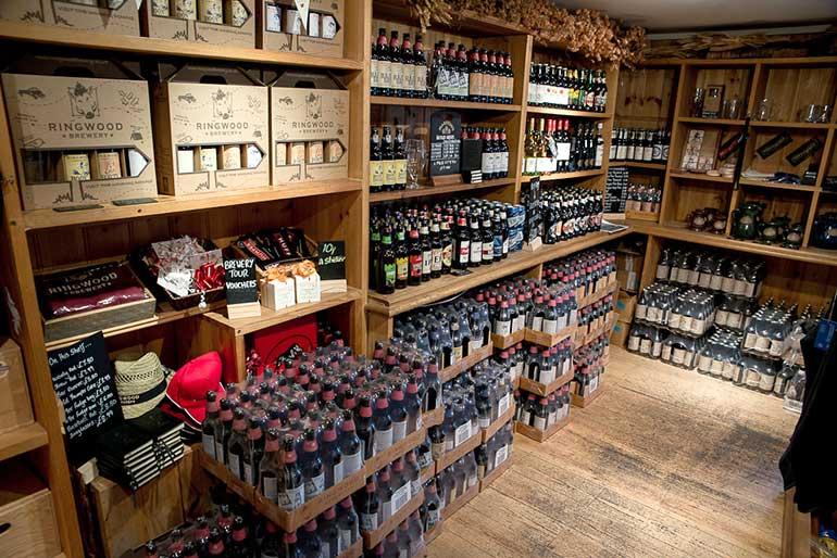 Ringwood Brewery shop