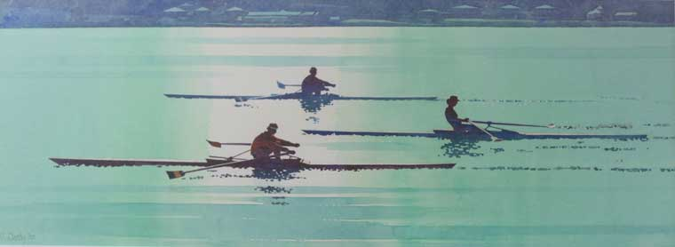 `Scullers`£70-100, an impressive work combining sporting energy with serene atmosphere