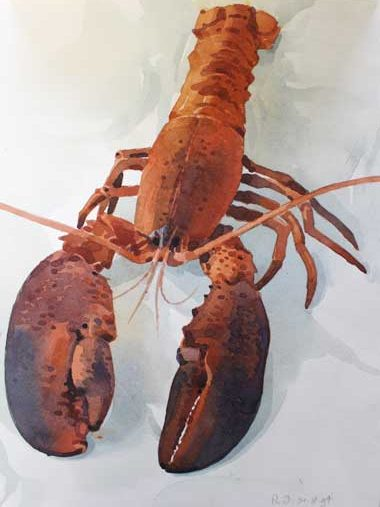 `Lobster` from a folio of 45 works estimated at £200-£400