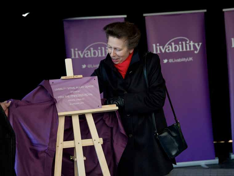 HRH Princess Anne opens Spinal Injury Service at Livability Holton Lee
