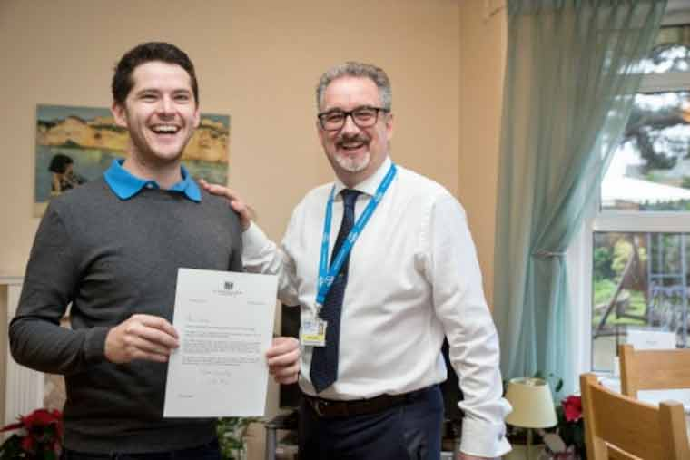 ournemouth resident Tommy Baker has been presented the Points of Light Award by 10 Downing Street