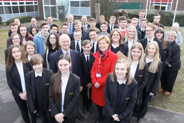 Local charity John Thornton Young Achievers Foundation (JTYAF) helps 46 outstanding students from Ferndown Upper School to achieve their ambitions.