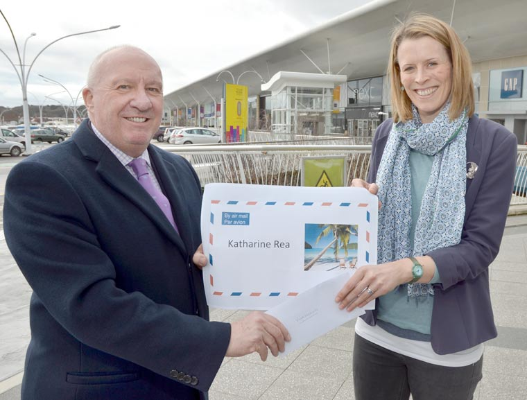Bournemouth shopping park's Valentine's Day competition for a luxury holiday in the Dominican Republic winner
