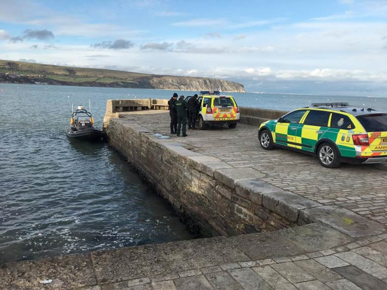 Police rescue man from Swanage Bay
