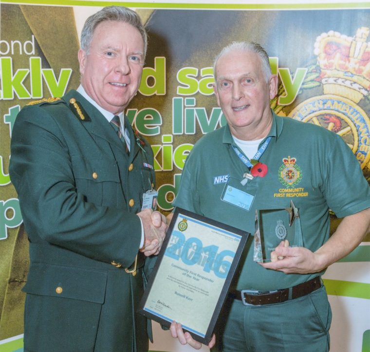 Community Responder of the Year award presented to Russell Kerr