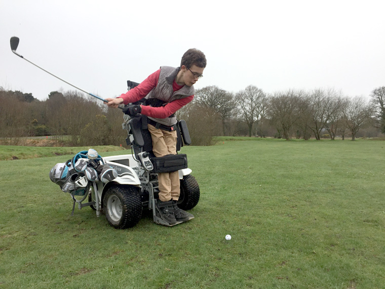 19-year-old Charlie Williams attempting a full 18 holes of golf to benefit a disability golf charity.