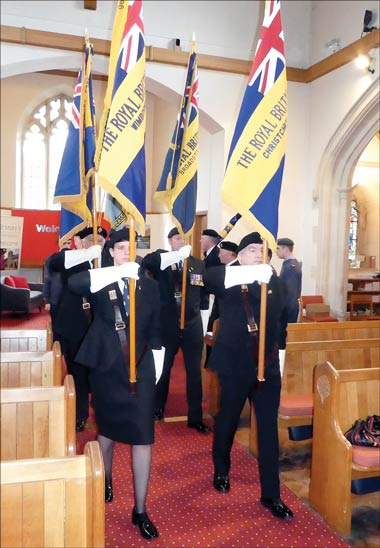 A service of dedication for the new branch Standard of the Royal British Legion in Ferndown