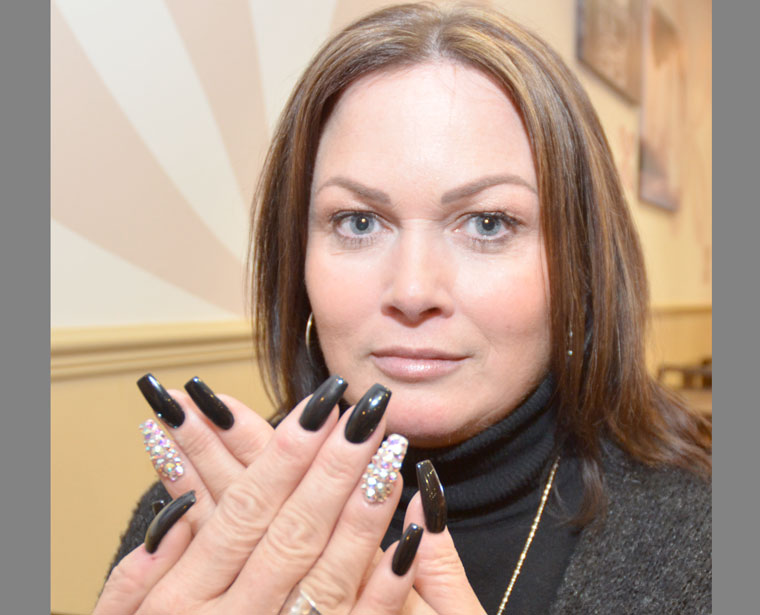 Charlotte Burgess, owner for the Nail and Beauty Boutique, spends three days as a nail technician for Gucci at the Milan Fashion Week