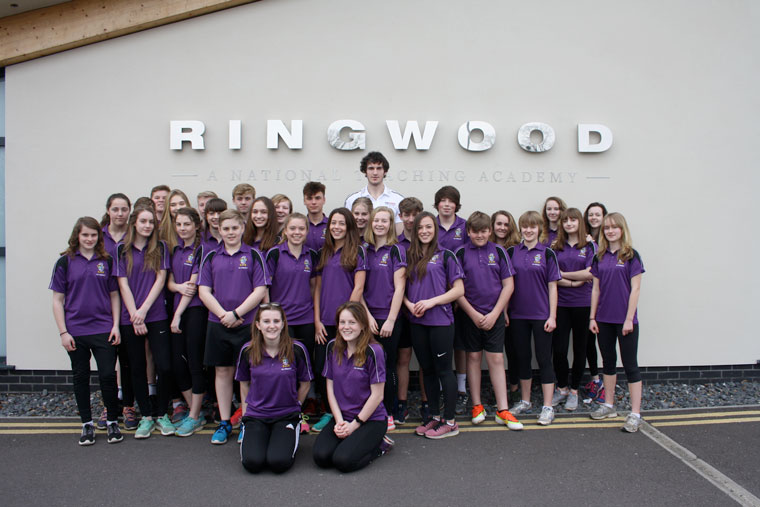 Chris Gregory meets Year 10 PE prefects at Ringwood School