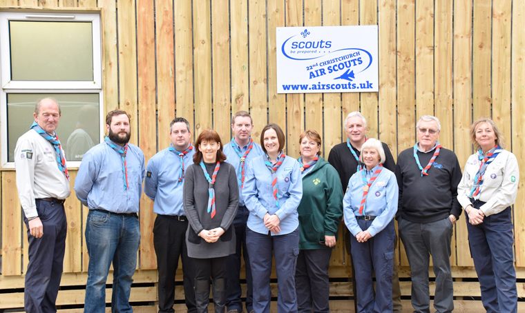 Talbot Village Trust awards a grant of £10,000 to Christchurch Air Scouts