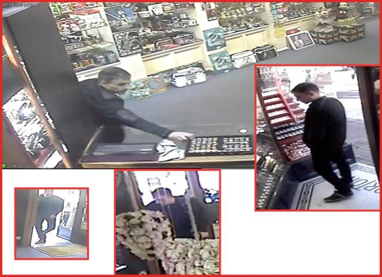 CCTV images released in connection with Poole jewellery store theft