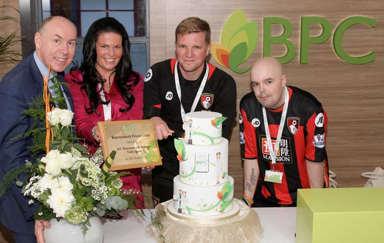 AFC Bournemouth manager Eddie Howe opens new private patient unit