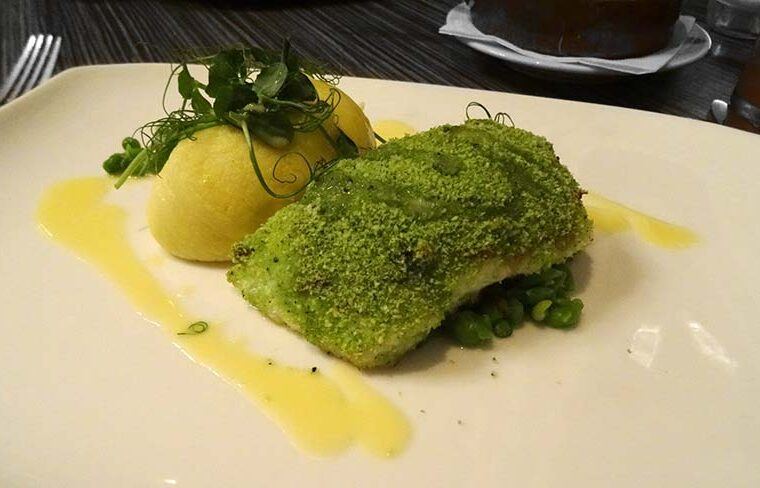 Hake and Crab Herb Crust at Upper Deck