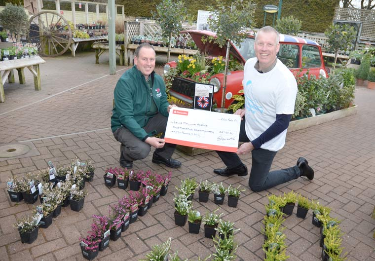 Stewarts' customers raise £4,750 for Lewis-Manning Hospice