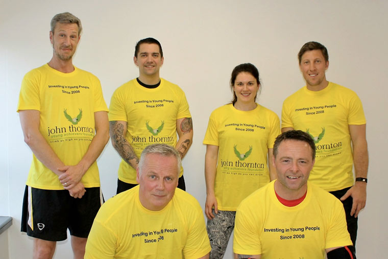30,000 Press-up Challenge for the John Thornton Young Achievers Foundation.