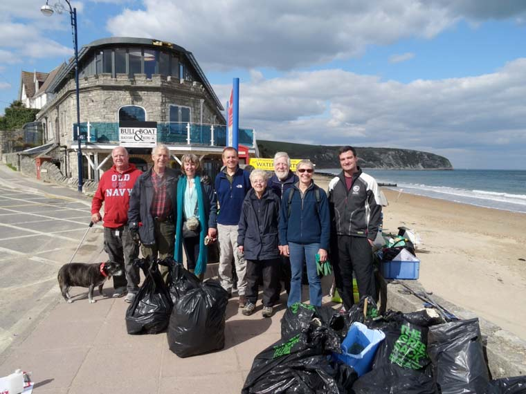 Durlston Country Park Rangers are asking people to help clean Swanage beach