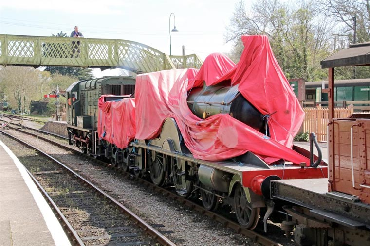 Unique Victorian steam locomotive arrives on Swanage Railway