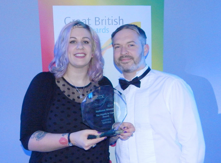 West Moors carer wins national Dignity in care award