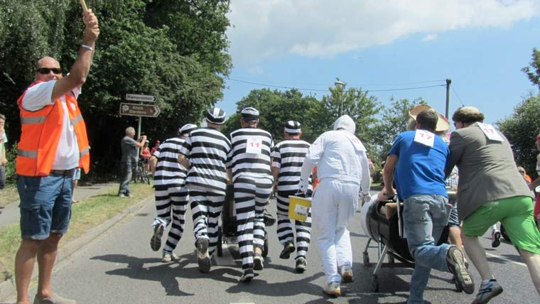 Sign up to the John Thornton Pram Race taking place at this year's Fete on the Field