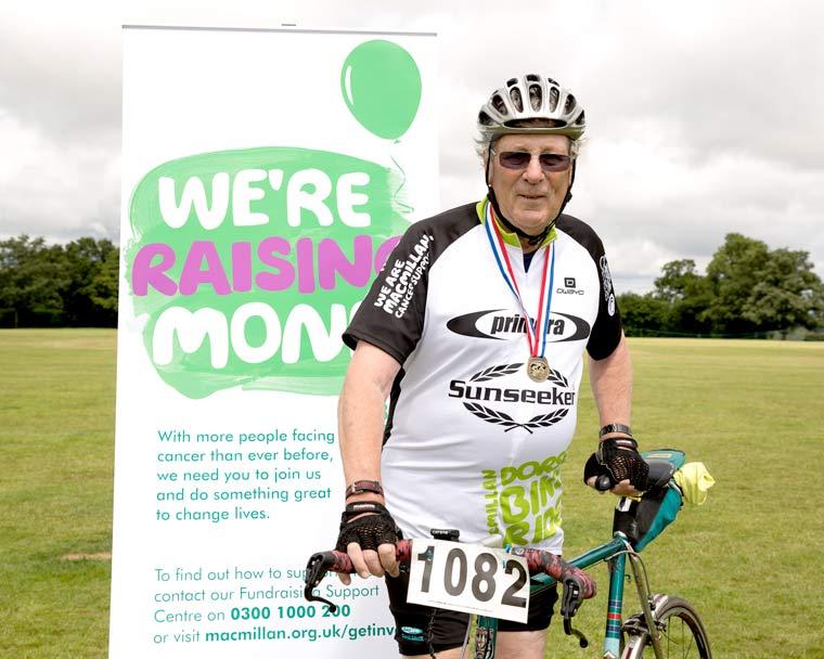 Gerry Robinson to ride in 20th Macmillan Dorset Bike Ride