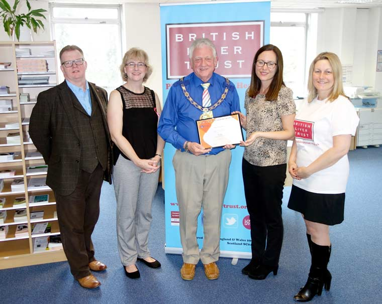 Freemasons donate to the Bournemouth-based British Liver Trust