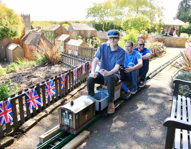 Passengers of all ages enjoy new railways attractions at Wimborne Model Town