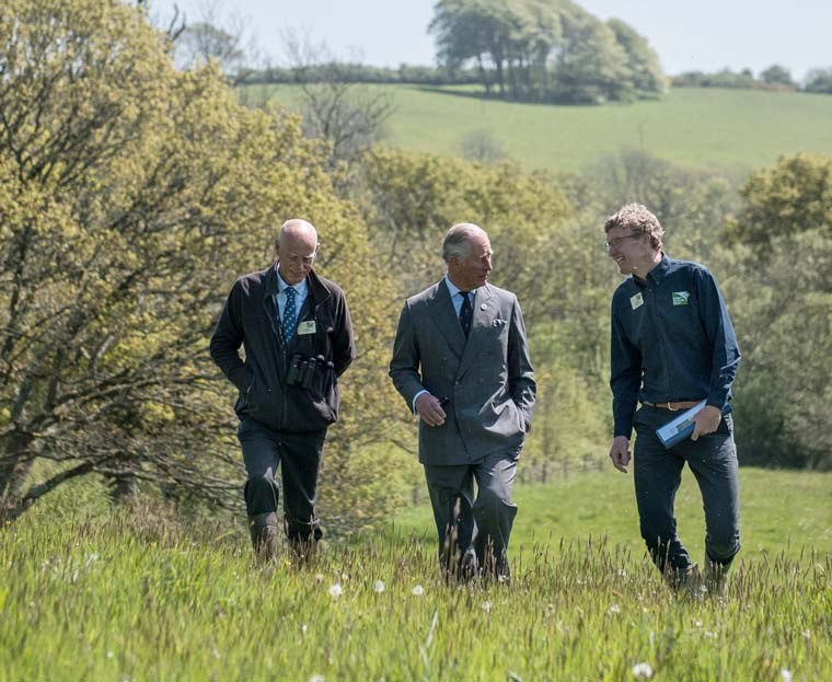 HRH Prince of Wales visits Dorset Wildlife Trust