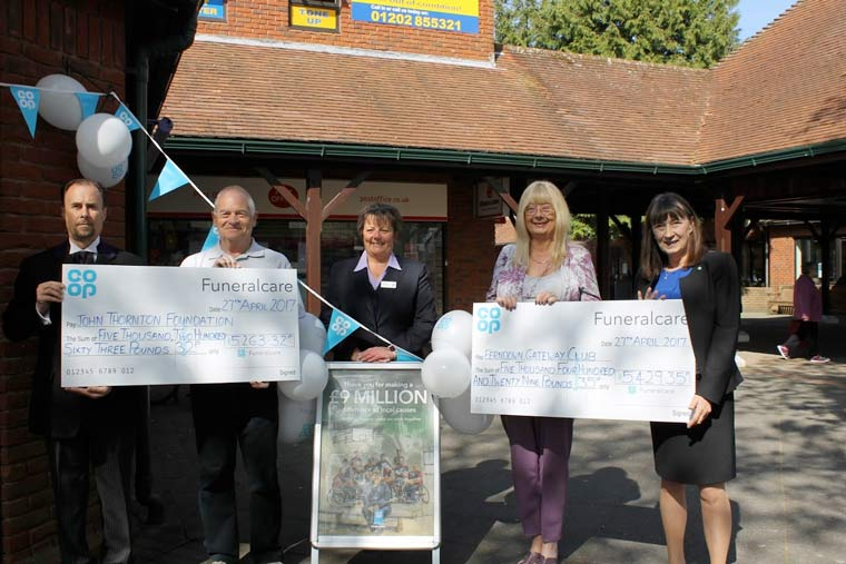 The John Thornton Young Achievers Foundation and Ferndown Gateway Club benefit from co-op fund