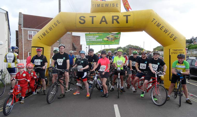 The 7th annual Dorset and Somerset Air Ambulance Coast to Coast (C2C) Cycle Challenge.