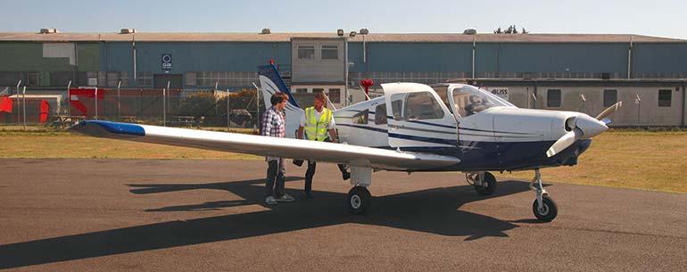 Bliss Aviation trial flight aeroplane