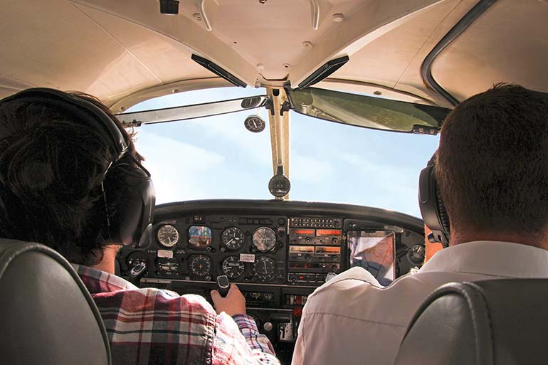 Bliss Aviation aeroplane cockpit