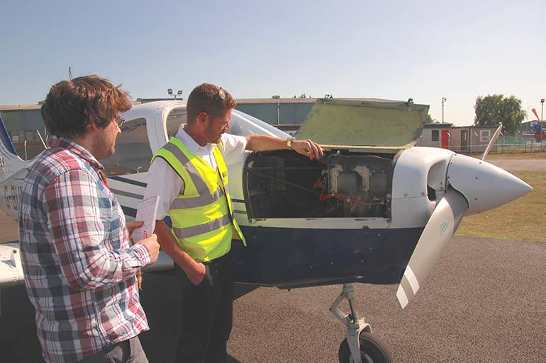 Last minute checks before Bliss Aviation trial flight