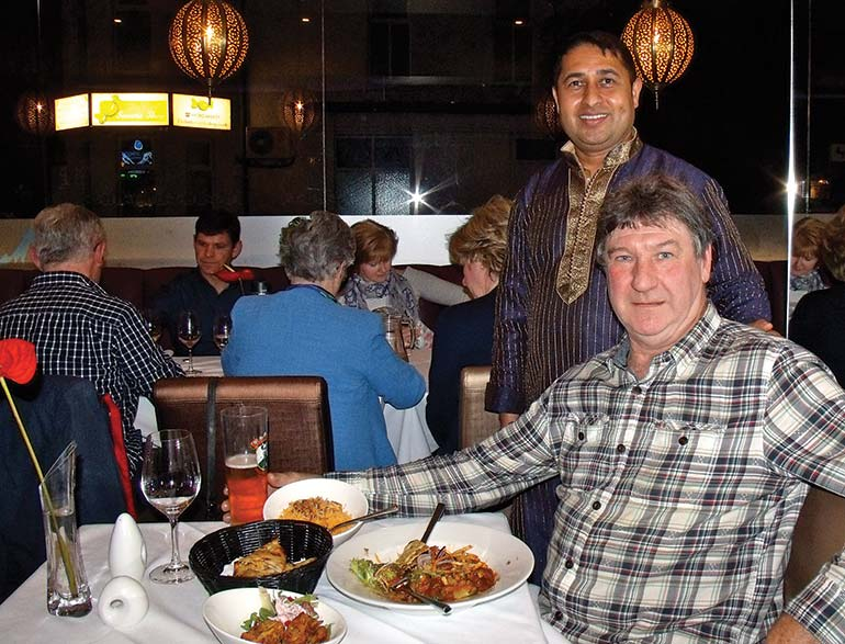 The 29029 Restaurant owner Madhav with Tony Millward
