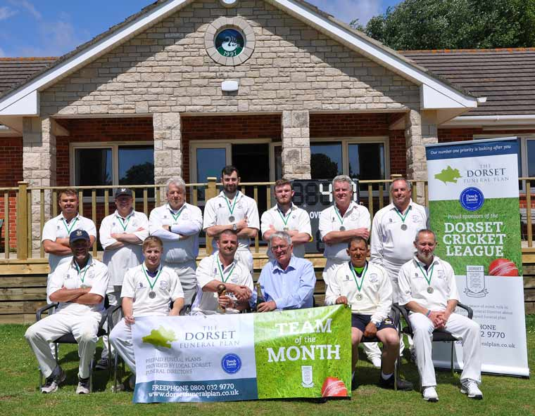 Swanage Cricket Club named Dorset Funeral Plan team of the month