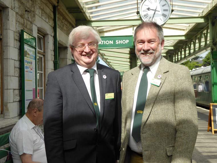 First departure at Swanage Railway since 1972