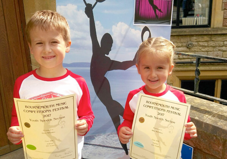 Pure Drama received 18 awards at Bournemouth Music Competitions Festival