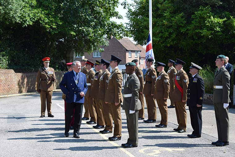 Armed Forces flag raised in Purbeck