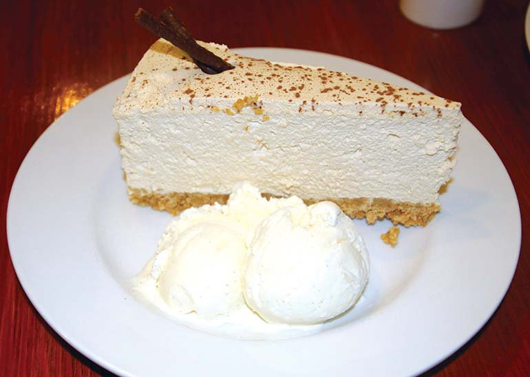 Baileys and coffee cheesecake