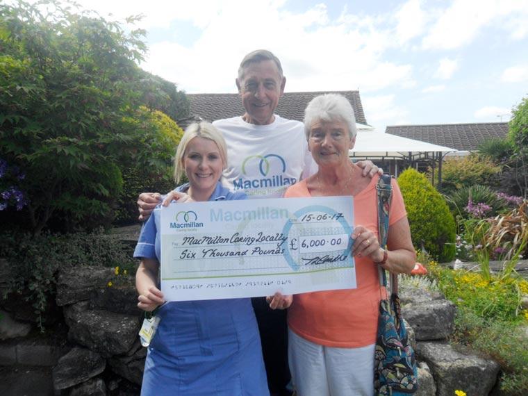 Chairman's wife raises £6,000 for Macmillan Caring Locally