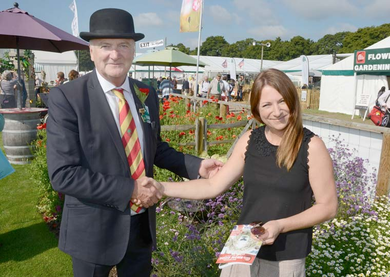 Rebecca Moy, Winner of best overall stand at the New Forest Show