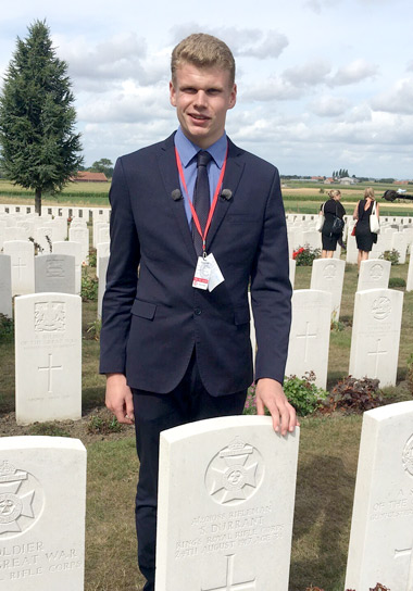 Former Canford pupil speaks at Passchendaele 100th anniversary service
